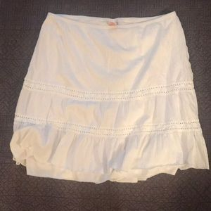 Xhilaration White layered skirt Size XL!